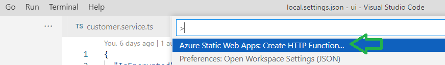 Azure Static Web Apps configuration using Azure Functions